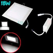 Painel 18w Plafon Luminaria Quadrada Embutir Led Downlight