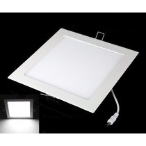 2 Painel Plafon 18w Luminaria Led Quadrado Embuti Ultra Slim