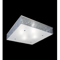 Plafon Alumínio Cristal Quadrado 40x40 - Lustre Sala Quarto