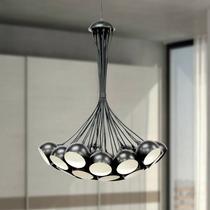 Pendente Alumínio Sala Ø100 - Lustre Luminária Cozinha