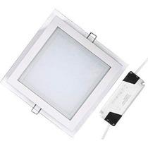 Painel Plafon Led 6w Vidro 3coresx1 Branco Frio Morno Quente