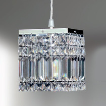 Mini Pendente De Cristal Sala 13x13 Lustre Luminária Quarto