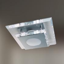 Plafon De Cristal 30x30 - Lustre Sala - Luminária Quarto -