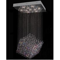 Lustre Cristal 55x55 Para Sala - Luminária Pendente - Hall