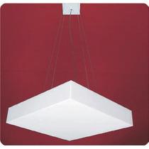 Pendente Acrílico Branco 35x35 Para Sala - Lustre Quarto