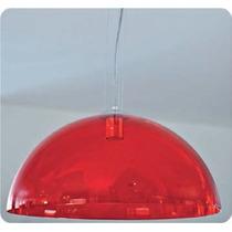 Pendente Cristal Vermelho Ø34 Sala - Lustre Quarto - Teto