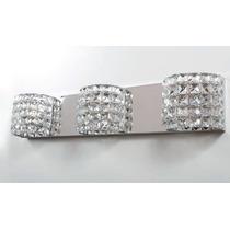Arandela Tripla Cristal - Sala - Luminária Quarto - Parede