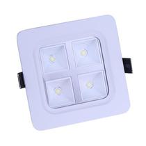10 Painel Plafon 4w Luminaria Led Embutir Sanca Gesso Embuti