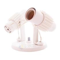 Spot Arandela Aletado Branco P\ 2 Lâmpada Luminária Plafon