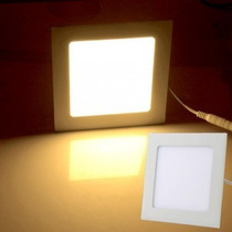 Painel Plafon Luminaria Led Quadrada Embutir Branco Frio 18w