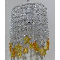 Lustre De Cristal Acrílico - Estrelas