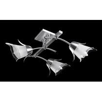 Lustre Vidro Borda Cristal Alumínio