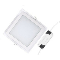 Painel Plafon Vidro Luminaria Led 18w 3 Cores Kit 10unidades