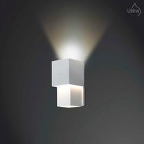 Arandela Interna Branca Retangular - Parede Iluminação Sala