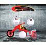 Lustre Infantil Moto Vermelho Para Quarto De Criança Menino
