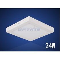 Painel Plafon Quadrad Luminária Sobrepor Led 24w Frio/quente