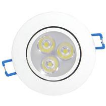 Kit Completo 20 Lampadas Spot Aluminio Led 3w Branco Frio