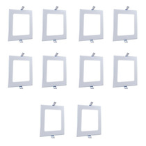 Kit 10 Painel Plafon Led Quadrado Embutir 25w Frete Grátis