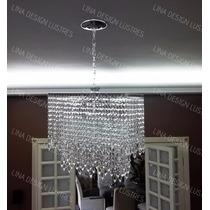 Lustre Para Sala De Jantar/visita Em Cristal Alto Brilho