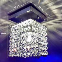 2 X Lustres Palfon Pendente Teto Cristal Importado 11x11