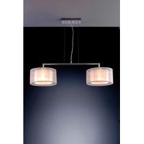 Luminária Pendente Lustre Bronzearte Para Sala 2 Luzes E27