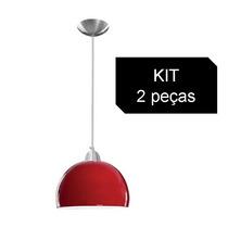 Kit 2 Pendente Bolinha (cúpula Em Vidro)p/ Bancada - Pequeno