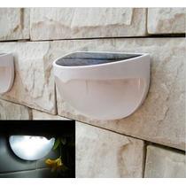 Luminária Luz Solar De 6 Leds P Escadas Telhados Quintal Led