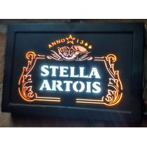 Placa Em Led De Mdf Stella Artois Vintage Decoração
