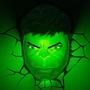 Decoração De Parede 3 D Luminária Hulk - Os Vingadores