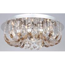 Lustre - Pendente Lia Metal + Vidro + Cristal 7 Lamp ( +luz)