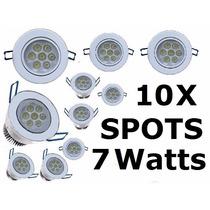 10 Spot Led 7 Watts Branco Frio Bi-volt Croica Direcional