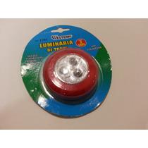 Luminária 3 Leds De Toque Com Adesivo Colante