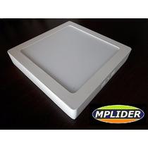 Plafon Luminaria Led 18 Watts B-volt Quadrado 22x22 Sobrepor