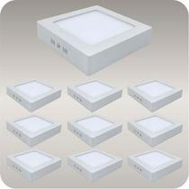 Kit 10 Painel Plafon Luminaria Sobrepor Teto Led Spot 12 W