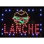 Placa Quadro Led Letreiro Luminoso Painel Lanche 48x25cm