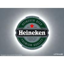 Painel Luminoso Em Led Cerveja Heineken Luminária Bar