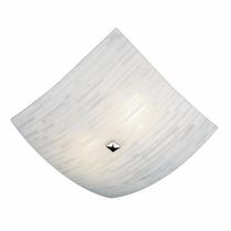 Luminária Quadrada Plafon Matrix 25cm Vidro Teto P/2 Lâmp