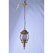 Lustre - Pendente Global - Ouro Velho 1 Lampada ( + Luz )