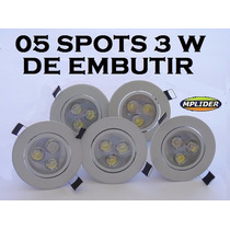 5 Spots Led 3 Watts Branco Frio Bi-volt Croica Direcional
