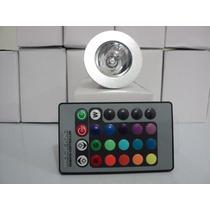 Lâmpada Spot Led 3w Rgb Bivolt E27+controle Remoto 16 Cores