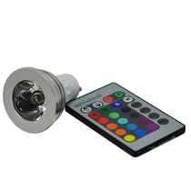 Lampada Rgb Spot Led 3w Gu10 16 Cores Bivolt Controle Remoto