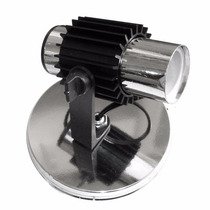 Kit 5 Unidades Luminária Cromada Modelo Spot Aleta 1 Lampada