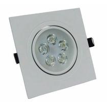 Kit Com 2 Lâmpada Led 5w Bivolt Spot Quadrado Embutir
