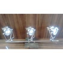 Spot Trilho Fixo P/ 3 Lamp Led Bi Volt Em Aço Lustre