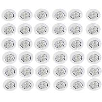 Kit 36 Spot Embutir Luminária 3w Led Inclina Branco Quente