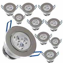 Kit Completo 15 Lampadas Spot Aluminio Led 3w Branco Frio