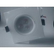 20 Lâmpada Led 3w Bivolt Spot Quadrado Embutir Branco Quente
