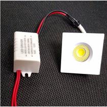 Mini Spot Embutir Teto Led Cob 3w Quente/morno 3000-3500k