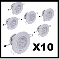 Kit Spot 7w Super Led Direcionável Alumínio ((10 Unidades))