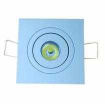 20 Mini Spot C/ Super Led 1w Direcionável Quadrado Quentefri